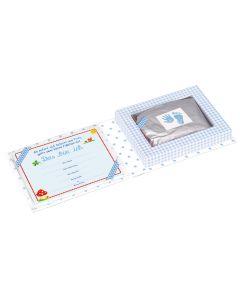 Set für Hand- und Fußabdruck BabyGlück, hellblau - SPIEGEL 10773