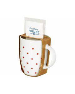 Geschenkset Tasse & Tee Rote Sterne - SPIEGELBURG 14436