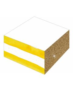 Notizblock mit Farb- und Glitterschnitt All about yellow - COPPEN 71841