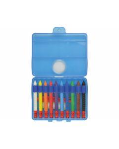 Wachsmalkreide wasserlöslich 10er Kunststoffbox - EBERHARD 521110