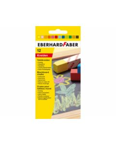 Wandtafelkreide farbig 12er Kartonetui - EBERHARD 526000