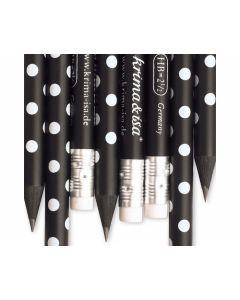 Bleistift Punkte Schwarz (1 Stück)