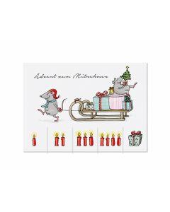 Postkarte Weihnachten zum Mitnehmen - KRIMA 14033