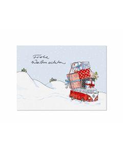 Postkarte Weihnachtsbus - KRIMA 11787