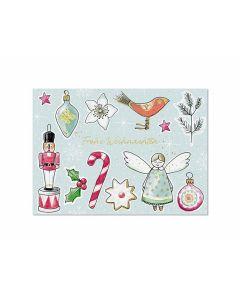 Postkarte Weihnachtsliebelei - KRIMA 14031
