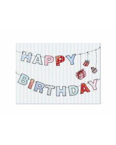 Postkarte Girlande Birthday
