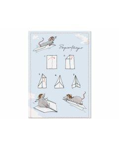 Postkarte Papierflieger