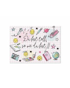 Postkarte Toll-girl