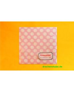 Servietten Punkte rosa - KRIMA 11275