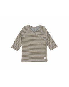 Wickelhemd Kimono Streifen grau melange (0 - 2 Monate) - LÄSSIG 1531011136-56