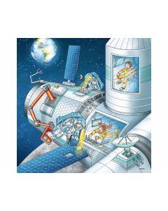 Puzzle 3 x 49 Teile: Auf Weltraummission mit Tom und Mia - RAVEN 05088
