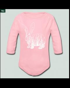 Bunnyhase auf rosa Babybody.