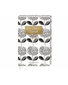 Jahreskalender: Mein 3 Minuten Tagebuch 2020 (schwarze Blüten)