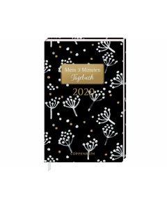 Jahreskalender: Mein 3 Minuten Tagebuch 2020 (weiße Blüten)